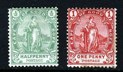 CAPE OF GOOD HOPE South Africa 1893 ½d & 1d. Standing Hope SG 58 & SG 59 MINT