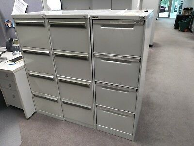 Metal 4 Drawer Filing Cabinets - Great Condition  (no Key) (4 available)