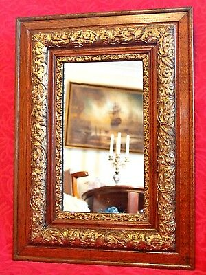 Antique Mirror in Oak Gilt Frame