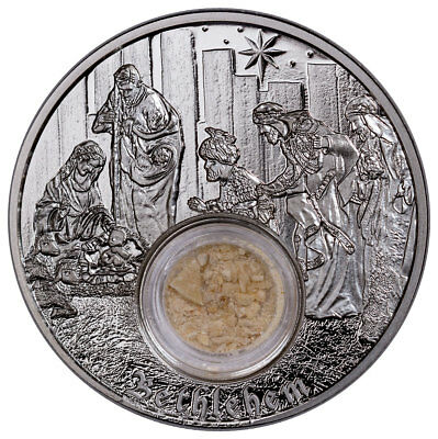 2018 Niue Footsteps of Jesus - Bethlehem 1 oz Silver Proof $2 Coin OGP SKU52332