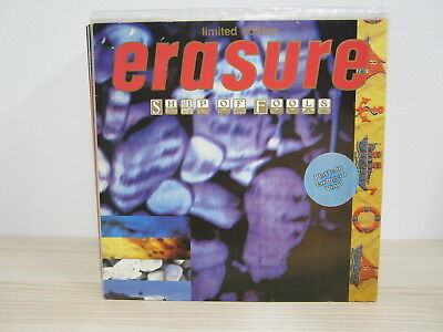 MS /  Erasure ‎– Ship Of Fools / Limited Edition, Marbled Red/Blue/White / RAR /