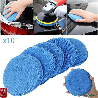 10 x Car Microfibre Polishing Pads Wax Applicator Foam Sponge Cleaning buffer