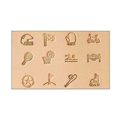 """Tandy Leather Sports Stamp Set 1/2"""" 8158-00"""
