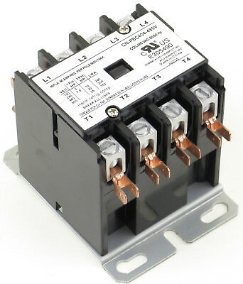 Cn-Pbc404-480V Definite Purpose Contactor 40Amp 4Pole 480V Coil 40 Fla 50 Res