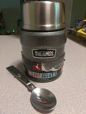 Thermos 16 oz. Stainless King Vacuum Insulated Stainless Steel Food Jar/ spoon