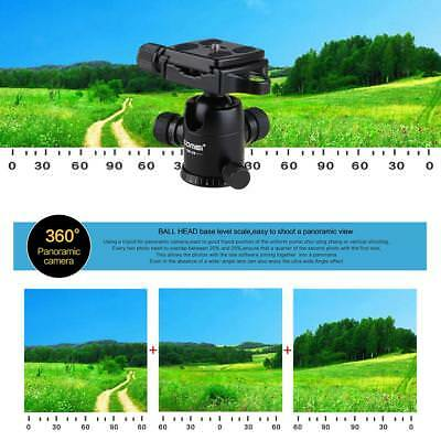 "Tripod Ball Head Swivel with Quick Release Plate 1/4"" Black for DSLR Camera"