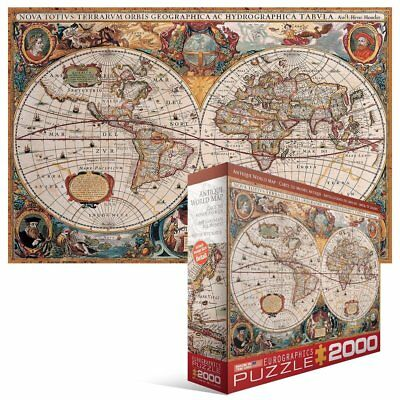 Eurographics puzzles antique world map jigsaw puzzle 1349 eurographics puzzles antique world map 2000pc jigsaw puzzle gumiabroncs Choice Image