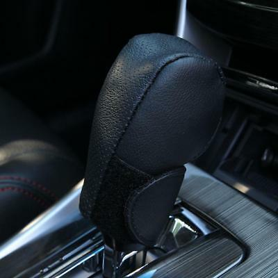 Black Synthetic Leather Car Auto/Manual Gear Shift Knob Protective Cover Case