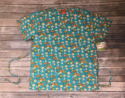 Rugrats Scrub Top Tommy Pickles and Spike, Nickelodeon Size M, L, NWT