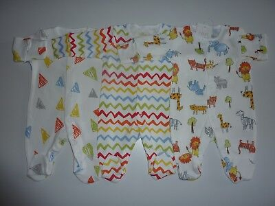 NEXT Set of 3 Gorgeous Sleepsuits First Size (7.8lbs /3.4kg) NWT