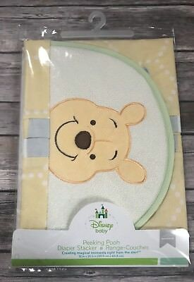 Disney Baby Peeking Pooh Diaper Stacker Nursery Decor