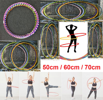 Hula Hoops Multicolored Printed Indoor Outdoor Fitness Gymnastic Boy Girls Kids