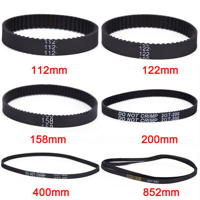 GT2 Ring Closed Loop Timing Belt Rubber 2GT 6mm 3D Printers Parts Belts Part ^G