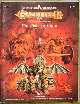 TSR D&D Gazetteer GAZ10 The Orcs of Thar