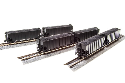 N Scale Broadway Limited 'Unlettered' H2a Hoppers (6) Car Set. Item #3655