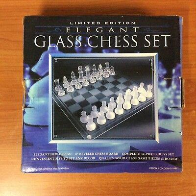2004 Limited Edition Elegant Glass Chess Set - 100% Complete