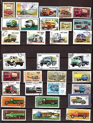 ALL COUNTRIES 30 Stamps :TOUS les models and brands TRUCKS EP161/30
