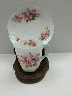 Shelley~ Fine Bone China from England~DEMI TEA CUP and SAUCER ~