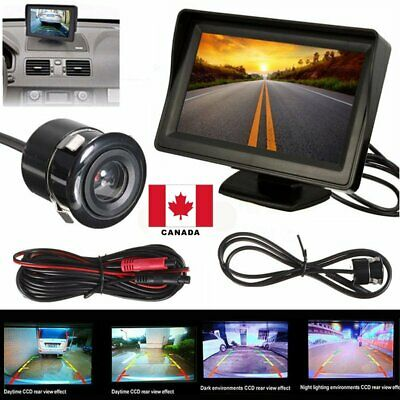 "Car Backup Camera Rear View System Night Vision + 4.3"" TFT LCD Monitor Canada"