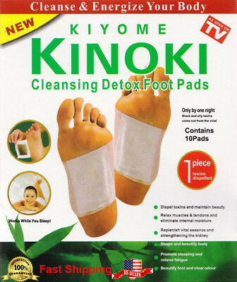50 Kinoki Cleansing Foot Detoxification Pads Patches 5 Boxes