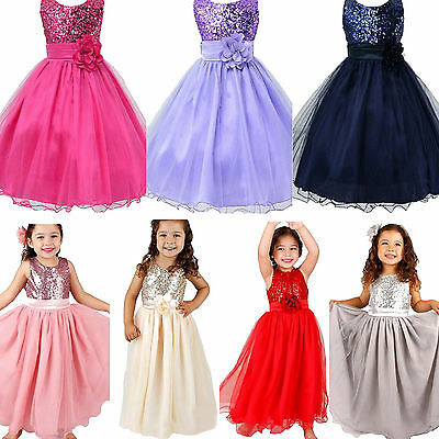 Girls Party Flower Formal Princess Tulle Tutu Dresses Wedding Gown Skirts