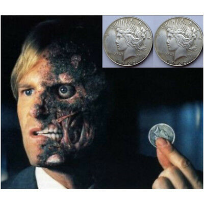 Batman Two Face Prop Trick Coin Harvey Dent The Dark Knight Costume Hot
