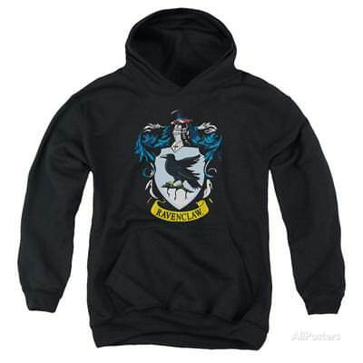 Youth Hoodie: Harry Potter- Ravenclaw Crest Apparel Pullover Hoodie - Black