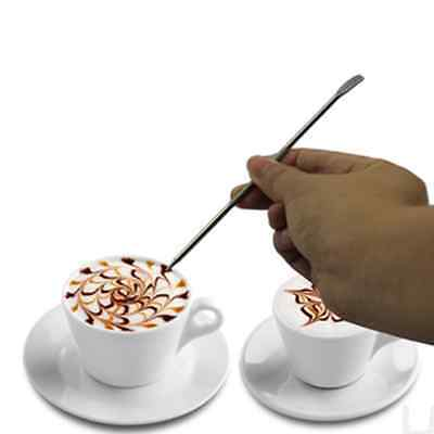 Kitchen Coffee Latte Cappuccino Stainless Steel Art Pen Tool Espresso Cafe DIY