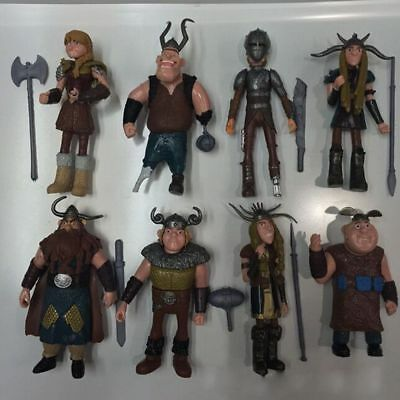 Set of 8 Pcs How to Train Your Dragon Hiccup Astrid Stoick Action Figures Toys