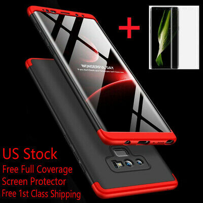 Samsung Galaxy Note 9/8/S10/S9/S8/Plus/S7 Edge 360° Slim Case+Screen Protector