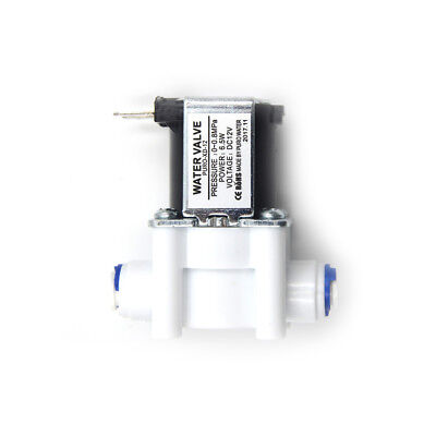 """DC12V 1/4"""" Electric Solenoid Valve Water Air Inlet Flow Switch Normally Closed ^"""