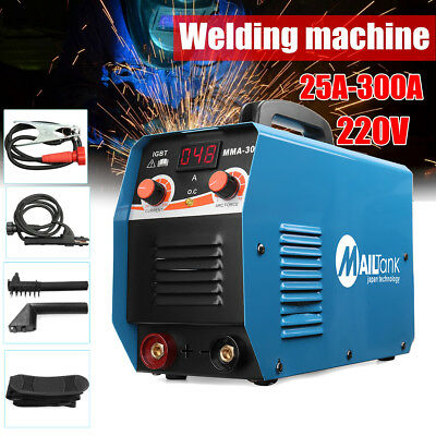 300Amp Welder DC Inverter MMA-300 ARC Welding Machine Stick Gun Mask Brush