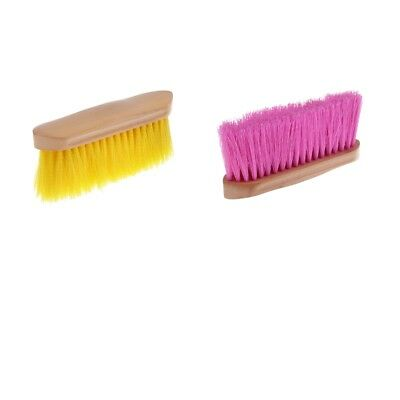 Horse Mane Tail Face Comb Animal Finishing Brush Grooming Kit with Wood Grip