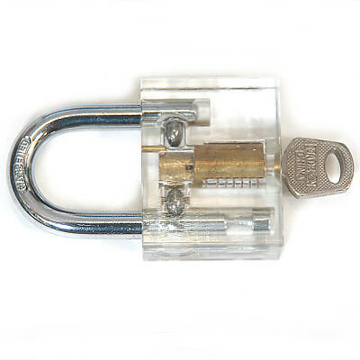 1 set Steel B127 Transparent + Silver Inner Visual Lock With Key