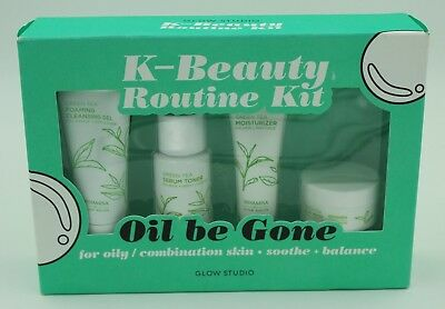 "New! Glow Studio K-Beauty Routine Kit ""Oil be Gone"" For Oily/Combination Skin"