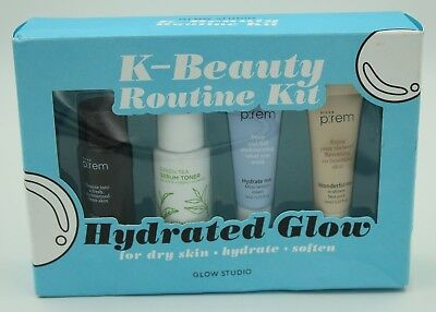 "New! Glow Studio K-Beauty Routine Kit ""Hydrated Glow"" For Dry Skin"
