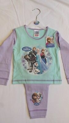 Official Disney Frozen Elsa Anna Olaf Children's Pyjama Sets & Long Sleeved Tops