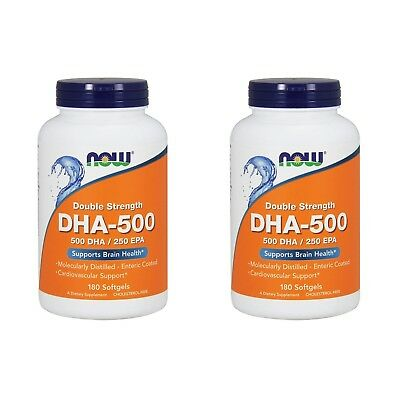 2X New Now Foods Dha 500 Omega 3 6 9 Efa Epa Double Strength Dietary Supplement