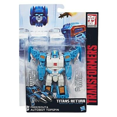 Transformers Generations Titans Return Freezeout & Autobot Topspin Deluxe Class