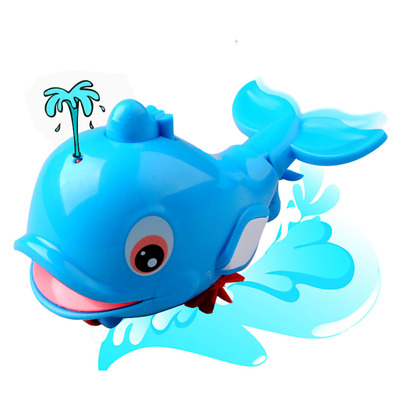 1Pcs Blue Squirt Water Dolphin Toy Ocean Swim Kids Children Bath Game Gift Funny