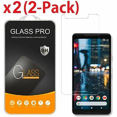 2-Pack Tempered Glass Coverage Screen Protector for Google Pixel 2 / Pixel 2 XL