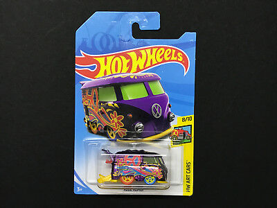 2018 Hot Wheels Theasure Hunt TH > Vw Volkswagen Kool Kombi > HW Art Cars Carded