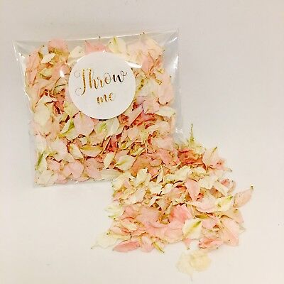 Biodegradable wedding confetti - individual 'throw me' pack - gold calligraphy