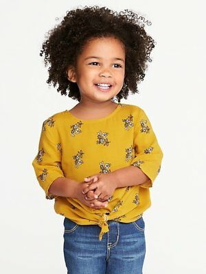 GAP OLD NAVY Printed Tie-Front Top for Toddler Girls NWT 2t 3T 4T N5