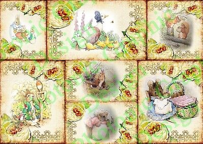 Beatrix Potter Peter Rabbit collection Photo Poster Print ONLY Wall Art Size A4