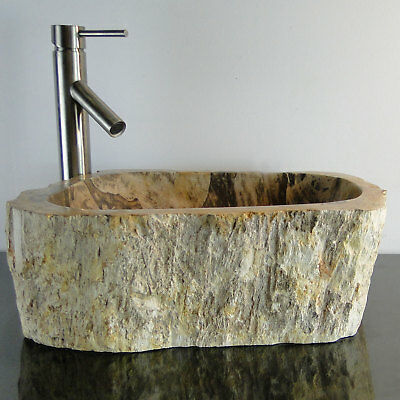 Bathroom Counter Top Petrified Wood Vessel Basin Sink JB7PS