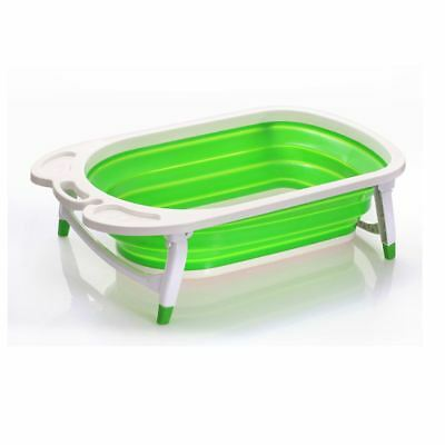 Foldable Baby Bath Tub Lightweight Sturdy Easy Storage by Babyhugs - GREEN
