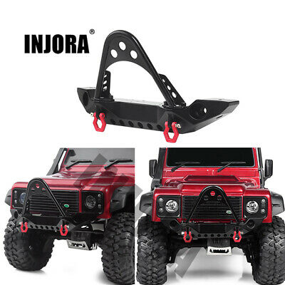 Black Metal Front Bumper For 1/10 RC Axial SCX10-90046 Crawler With LED Cable