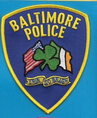 Baltimore Maryland Md Cross Flages Flags Shamrock  Balt Bpd Pd Local State
