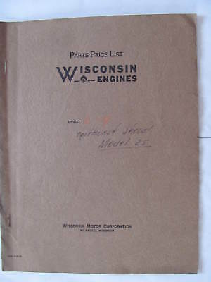 Wisconsin Engines Model L4 25 Manual